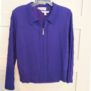 Rich Purple St John Sweater and Shell Sz12